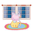 kitty cat cartoon vector image