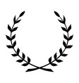 laurel wreath black icon symbol victory and vector image