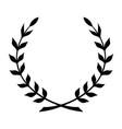 laurel wreath black icon symbol victory and vector image vector image