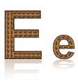 letter e is made grains of coffee isolated on whit vector image