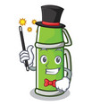 magician thermos character cartoon style vector image