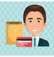 man credit card gift vector image