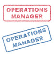 Operations manager textile stamps