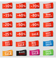 price tags set transparent background vector image vector image