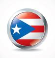 Puerto Rico flag button vector image vector image