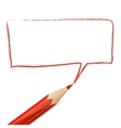 Red speech bubble drawn with pencil vector image vector image