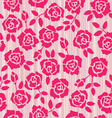 Retro floral seamless pattern roses vector image vector image