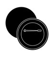 round pin badge template front and back design vector image vector image