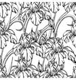 Seamless pattern decorative of iris flowers vector image