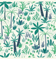 seamless pattern with abstract tropical plants vector image vector image