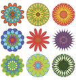 Set of abstract geometric ornament in color vector image vector image