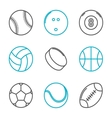 Simple trendy sport icons set vector image vector image
