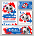soccer championship cup poster for football design vector image vector image