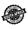south african republic best service stamp with vector image