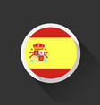 spain national flag on dark background vector image vector image
