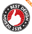 Stamp sticker best design collection - - E vector image vector image