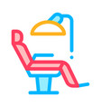 stomatology dentist chair thin line icon vector image