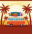 summer and beach cartoon vector image vector image