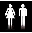 Toilet icon negative vector image