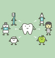 tooth and best friend dental care and good hygiene vector image vector image
