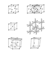 Typical metal lattice vector image vector image