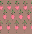 vegetable pattern with radish vector image vector image