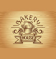 vintage bakery labels design elements vector image