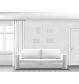 white interior with sofa vector image vector image