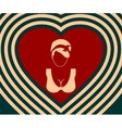 Woman silhouettes on heart backdrop vector image vector image