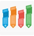 Colorful infographics four steps vector image