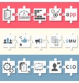 Infographics set of app seo and smm vector image