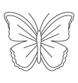 Big butterfly icon outline style vector image