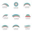 Rainbow logo template vector image