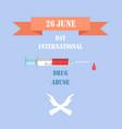 26 june international day against drug abuse promo vector image