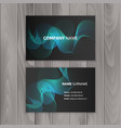 abstract creative business cards on dark vector image