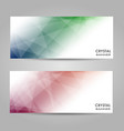 abstract geometric triangular banners vector image vector image