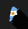 Argentina flag map flat design icon vector image
