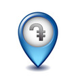 armenian dram symbol on mapping marker icon vector image vector image