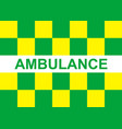 battenburg ambulance marking vector image vector image