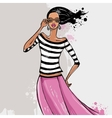 Beautiful Fashion woman vector image vector image