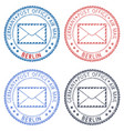 berlin round postmarks for envelope vector image vector image