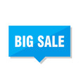 big sale price tag vector image vector image