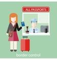 Border control concept vector image vector image