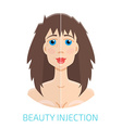 Botox injections before and after vector image vector image