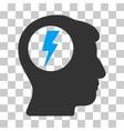 Brain Electric Shock Icon vector image vector image
