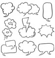 bubble speech hand draw of doodle vector image