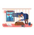 burglar in apartment vector image