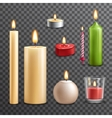 Candles transparent set vector image
