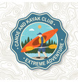 canoe and kayak club badge concept for vector image vector image