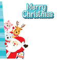 Christmas Greeting Card Santa Claus And Animals vector image vector image